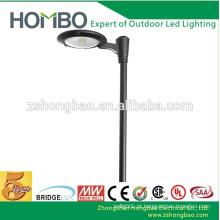 Fabricante iluminação de estacionamento CE RoHS UL DLC 20W ~ 50W cob moderno levou luzes de jardim
