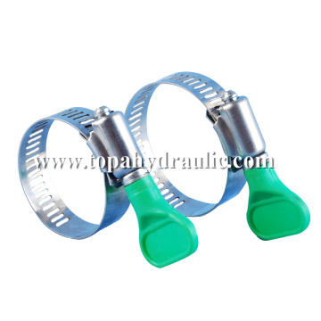 Screw large worm gear pinch type hose clamps