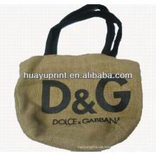 Jute-Tasche pp gesponnene Tasche Leinentasche AT -1081