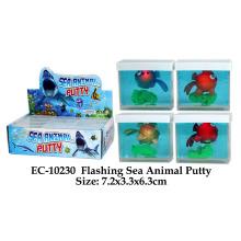 Juguete divertido de la masilla del animal de mar que destella