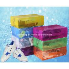 PP plásticos plegables paquetes de cristal caja de zapatos de mango (hh05)