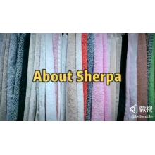 Tecido de lã de veludo para tingimento de tecido de pelúcia com pelo curto