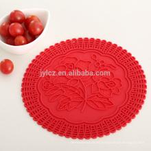 Estera de mesa de silicona para alimentos calientes