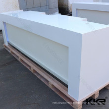Solid surface white Round Reception Desk