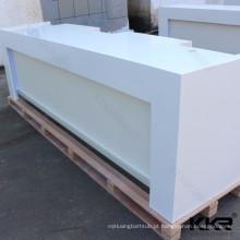 Mesa de recepção redonda branca da superfície contínua