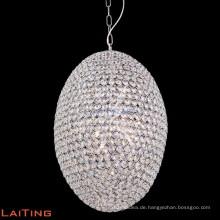 Moderne zeitgenössische Kristall Pendelleuchte Eisen Kronleuchter Bronze