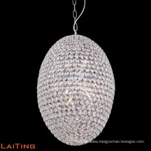 Modern contemporary crystal pendant light iron chandelier bronze