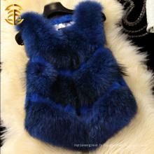 Veste de mode pour dames et fourrure en lapin et fourrure de mouton