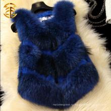 Кролик и Raccoon меховой трикотажные Новые дамы моды жилет