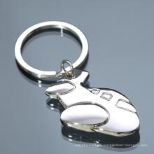 Großhandelsqualitätsgewohnheit Metallflugzeug keychain