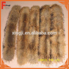natural color 4*80cm raccoon fur collar with tape