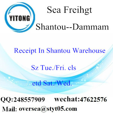 Shantou Port LCL Consolidation To Dammam