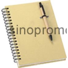 Caderno com o caderno do presente da pena de esfera (MN9046)
