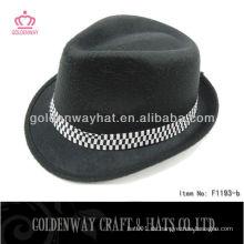 Günstige schwarze Fedora Hüte mit Filz