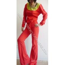 Senhoras ′ 85% Algodão 15% Cashmere Sports Wear (HM-SW09013)