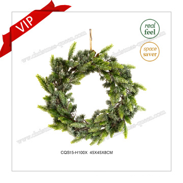 17′′ Plastic Products Home Decoration Gift Christmas Artificial Wreath