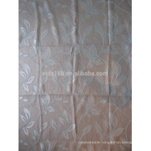New arrival hollow leaves design 250gsm thick Linen Like Jacquard 100% polyester Curtain fabric