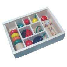 Klassisches Spielzeug traditionelle Förderung Holz Spinnerei Spielzeug