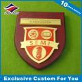 School Souvenir Wood Shield Plaque
