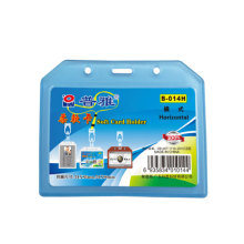 Dual Soft ABS Working ID name Badge Two-Card Holder