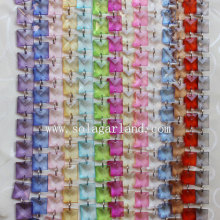 ODM for Crystal Bead Garland Wedding Transparent Square Beaded Garland Curtain for Tree Decor export to Anguilla Supplier