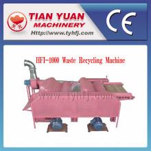 Tela (HFI-1000) de la máquina de reciclaje de residuos