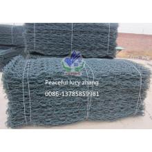 Gabion, Gabionbox & Gabion Proveedor de colchón de PVC verde musgo