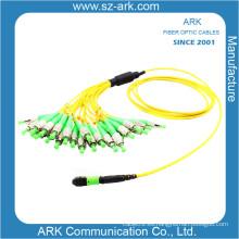 MPO / PC-FC / PC Cordón de remiendo óptico de la fibra (1.5M)