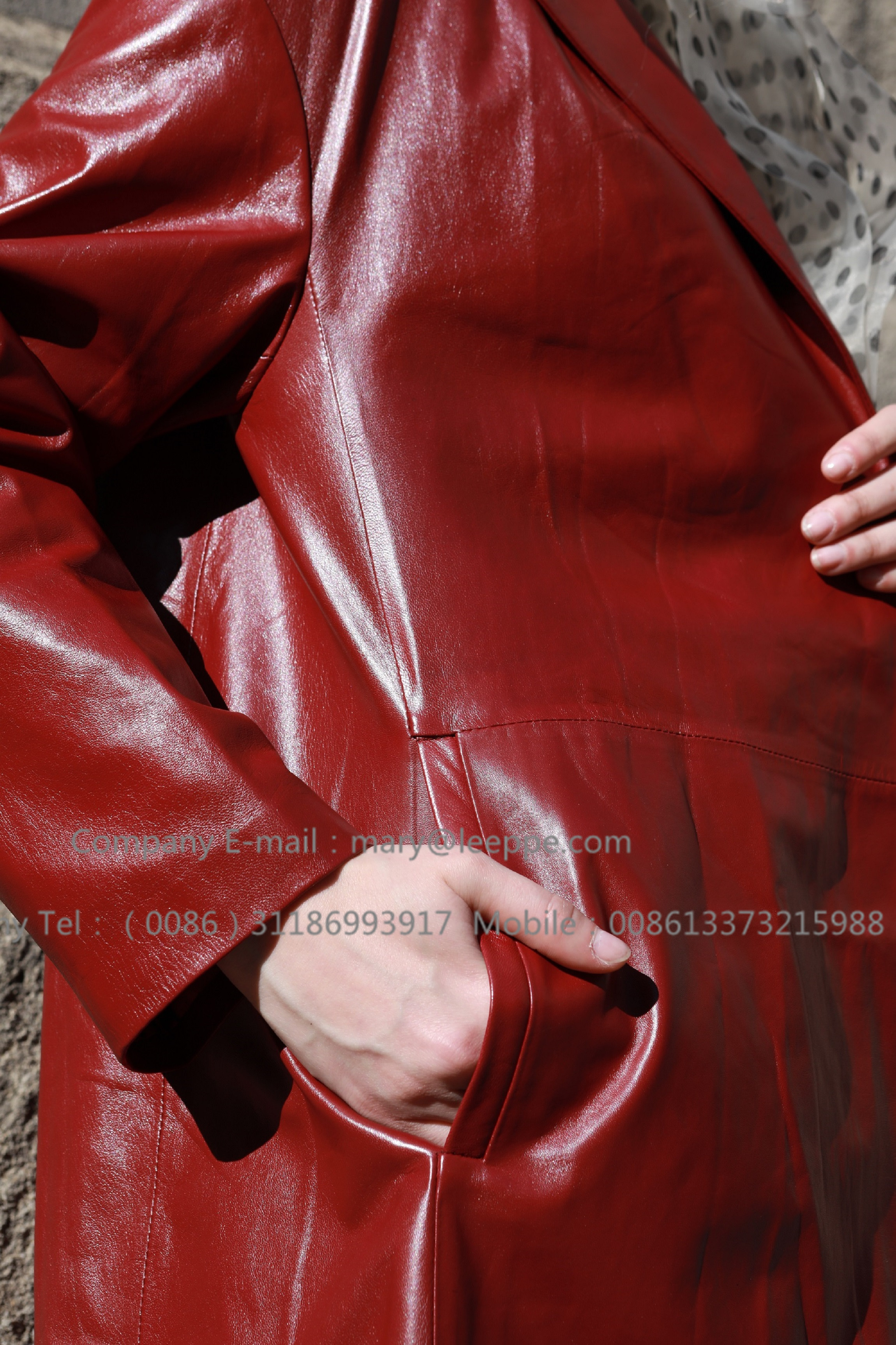Red Leather Coat (5)