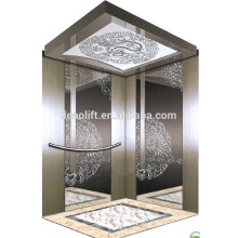 Luxury mirro stainless steel passenger elevator with machine room