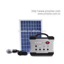 Gerador solar móvel portátil pequeno da CC para a iluminação remota da área