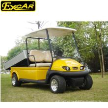 Vehículo utilitario eléctrico de precios aprobados CE, carrito de golf de 2 plazas con caja de carga de aleación