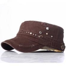 Client New Lady Rhinestones Fashion Military Army Street Leisure Caps