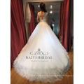 A-Line con cuentas de encaje vestido de novia para niña robe de mariage