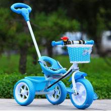 Mini triciclo de plástico para crianças de 2-6 anos de idade com guiador destacável