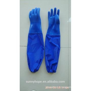 Gant imperméable imperméable à pvc à manches longues