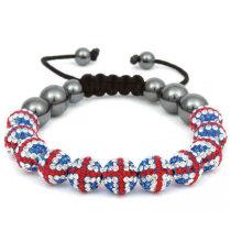 100% Excellente Bracelets Drapeau du Royaume-Uni à la main Couleurs Signification Shamballa Bracelet BR26