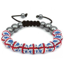 100% Excellent Handmade UK Flag Bracelets Colors Meaning Shamballa Bracelet BR26