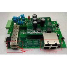 Tableros PCB de placa madre de conmutador POE completo industrial / exterior Gigabit administrados 4 puertos RJ45 con 2 puertos SFP 1000M