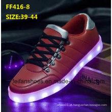 Mais recente moda masculina LED sapatos leves sapatos de desporto de lazer (ff416-8)