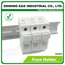 FS-033 600V DC AC 32A 3 polos 10x38 Cylindrical titular del fusible