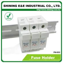ПС-033 600В постоянного тока переменного тока 32А 3-полюсный 10x38 держатель цилиндрических предохранителей