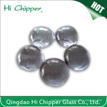 Iridescent Clear Flat Back Fire Pit Glass Beads
