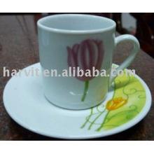 80CC taza de té al por mayor de cerámica y platillo
