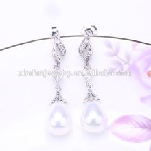fábrica al por mayor moda coreana pendiente perla moda coreana
