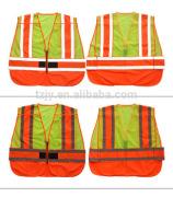 high visibility glow in dark reflective safety vest