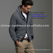 pull en cachemire CABLE CARDIGAN
