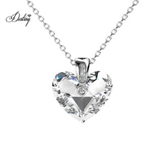 High Quality Zephyr Love Heart Shaped Crystal Pendant Necklace Fine Jewelry for Women