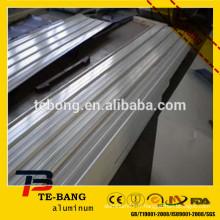 Coloris en aluminium en tôle et en toiture en métal