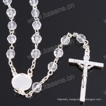 Wholesale 6mm Silver Religious Crystal Chain Rosary
